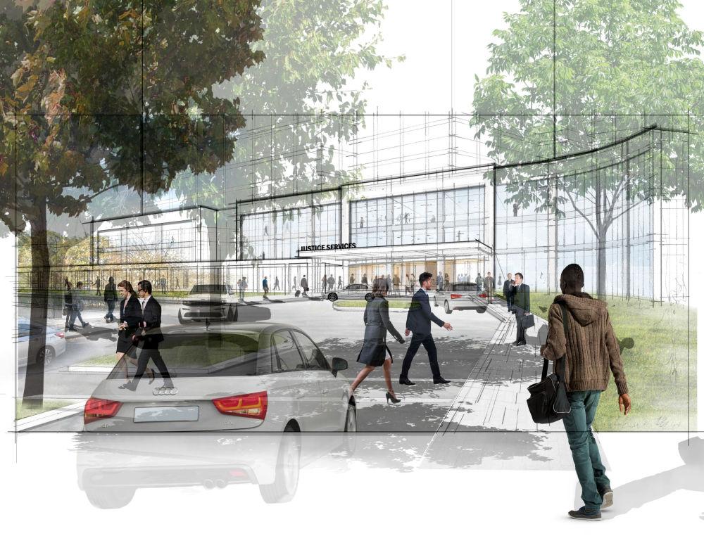 Il progetto di una delle prigioni che dovrebbero costruire invece della prigione più grande del mondo Rikers Island a New York, USA