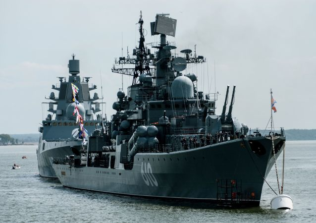 Cacciatorpediniere della Marina russa nel Baltico