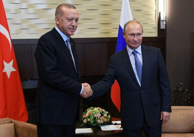 Putin ed Erdogan dopo i colloqui di Sochi