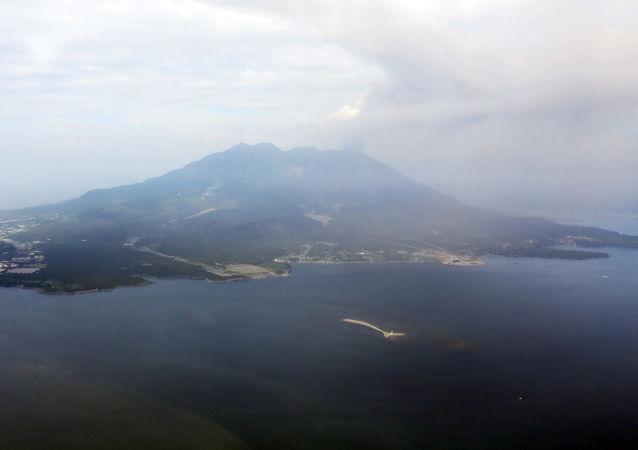 La montagna Sakurajima, Giappone