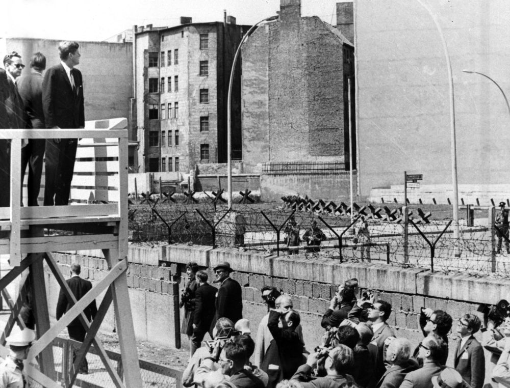 Il presidente degli Stati Uniti John F. Kennedy a Berlino Ovest nel 1961.