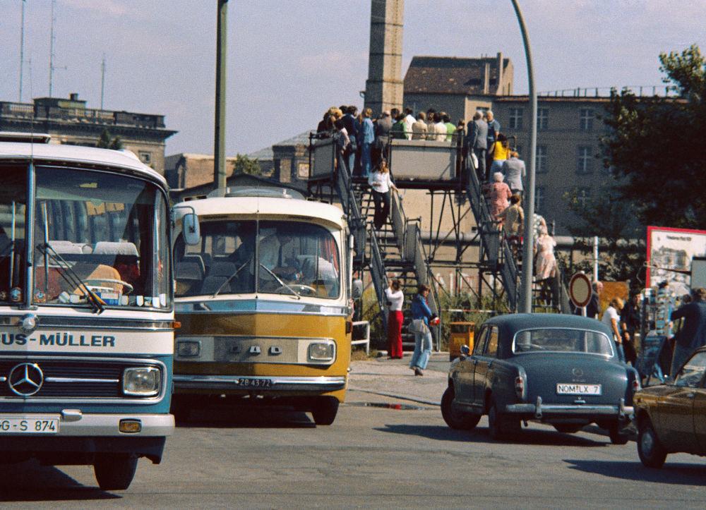 Muro di Berlino negli anni '70 a Potsdamer Platz