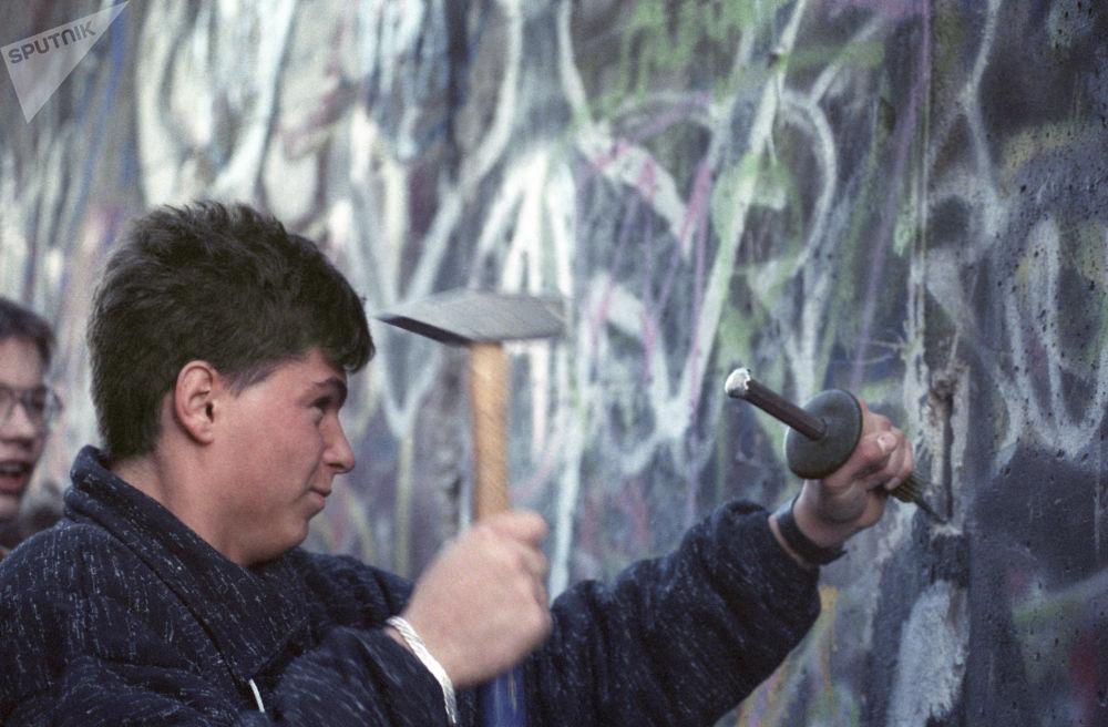 Un pezzo del muro di Berlino come ricordo