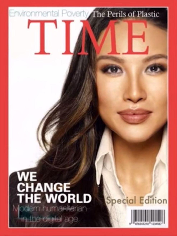 Mina Chang sulla copertina della rivista Time