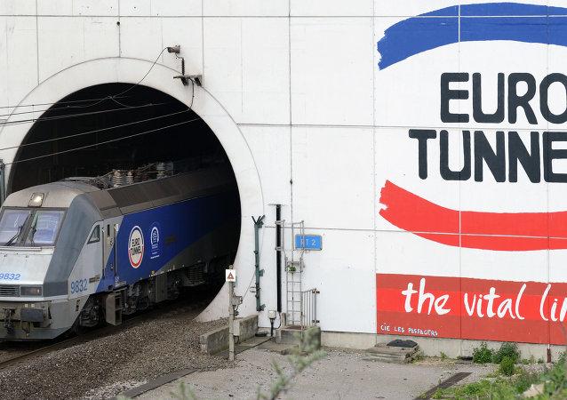 L'entrata nell'Eurotunnel