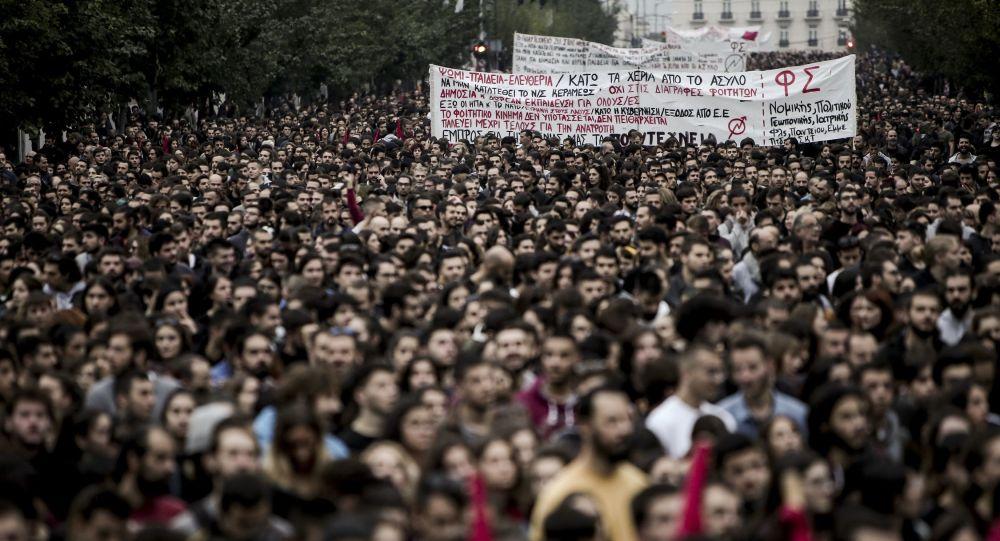 Manifestazioni antiamericane ad Atene