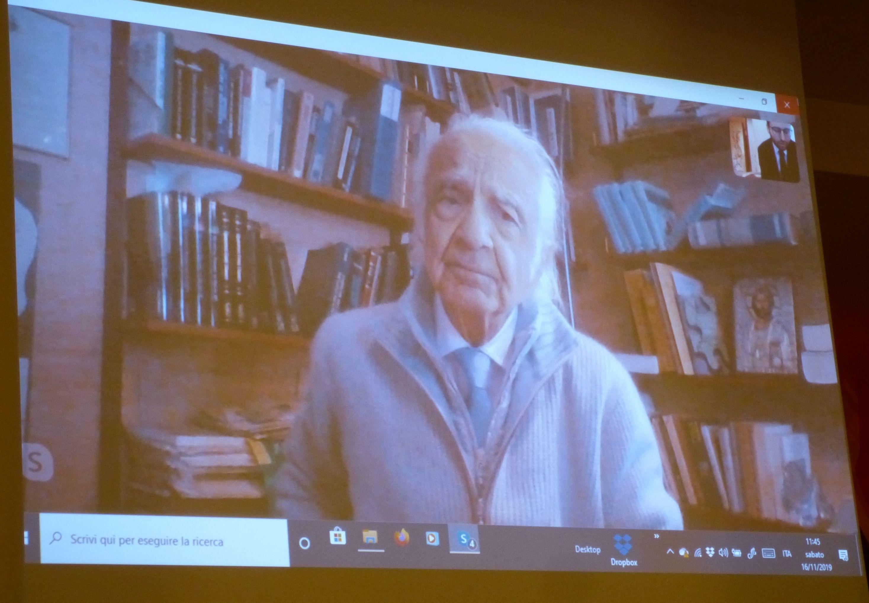 Prof. Antonino Zichichi via skype