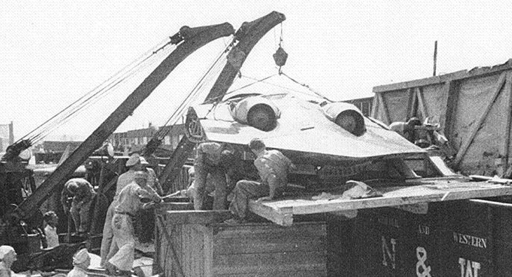 Horten Ho 229 catturato dalle truppe americane (foto d'archivio)