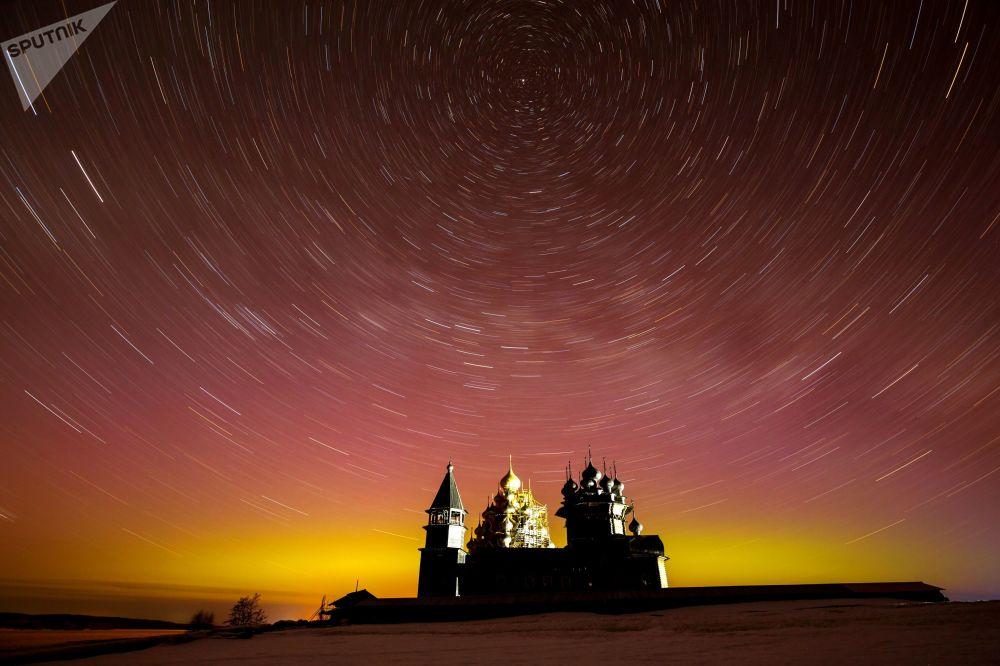 Il museo Kizhi in Carelia, Russia.