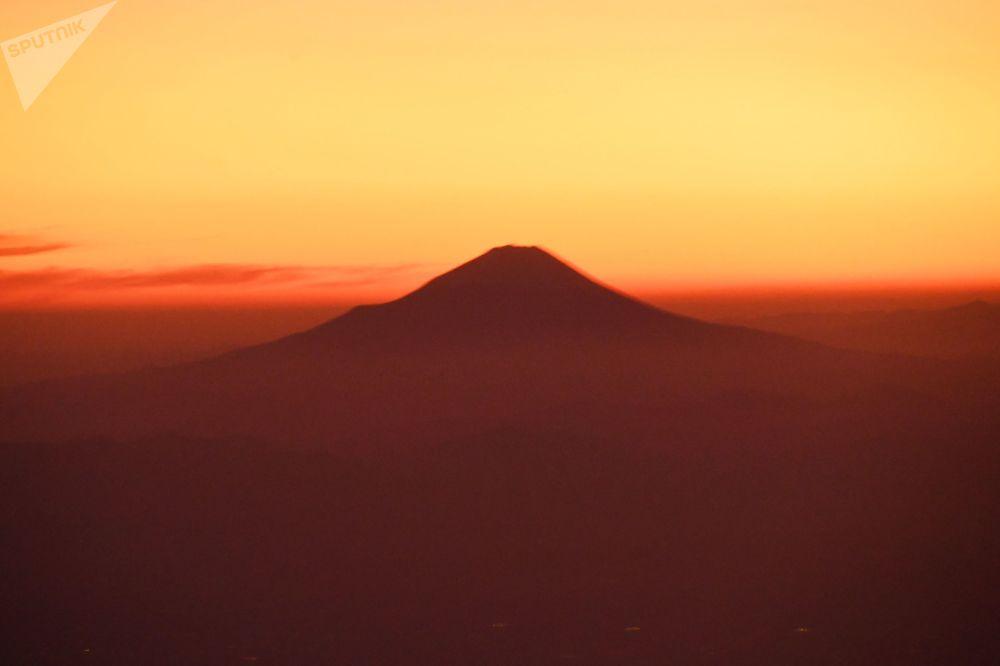 Il Monte Fuji in Giappone.