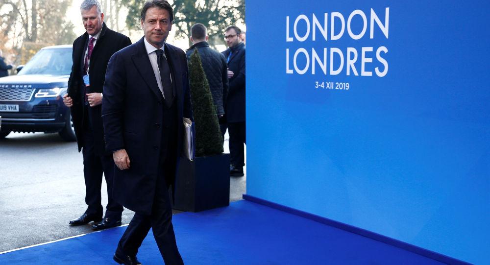 Il primo ministro italiano Giuseppe Conte al summit della Nato di Londra