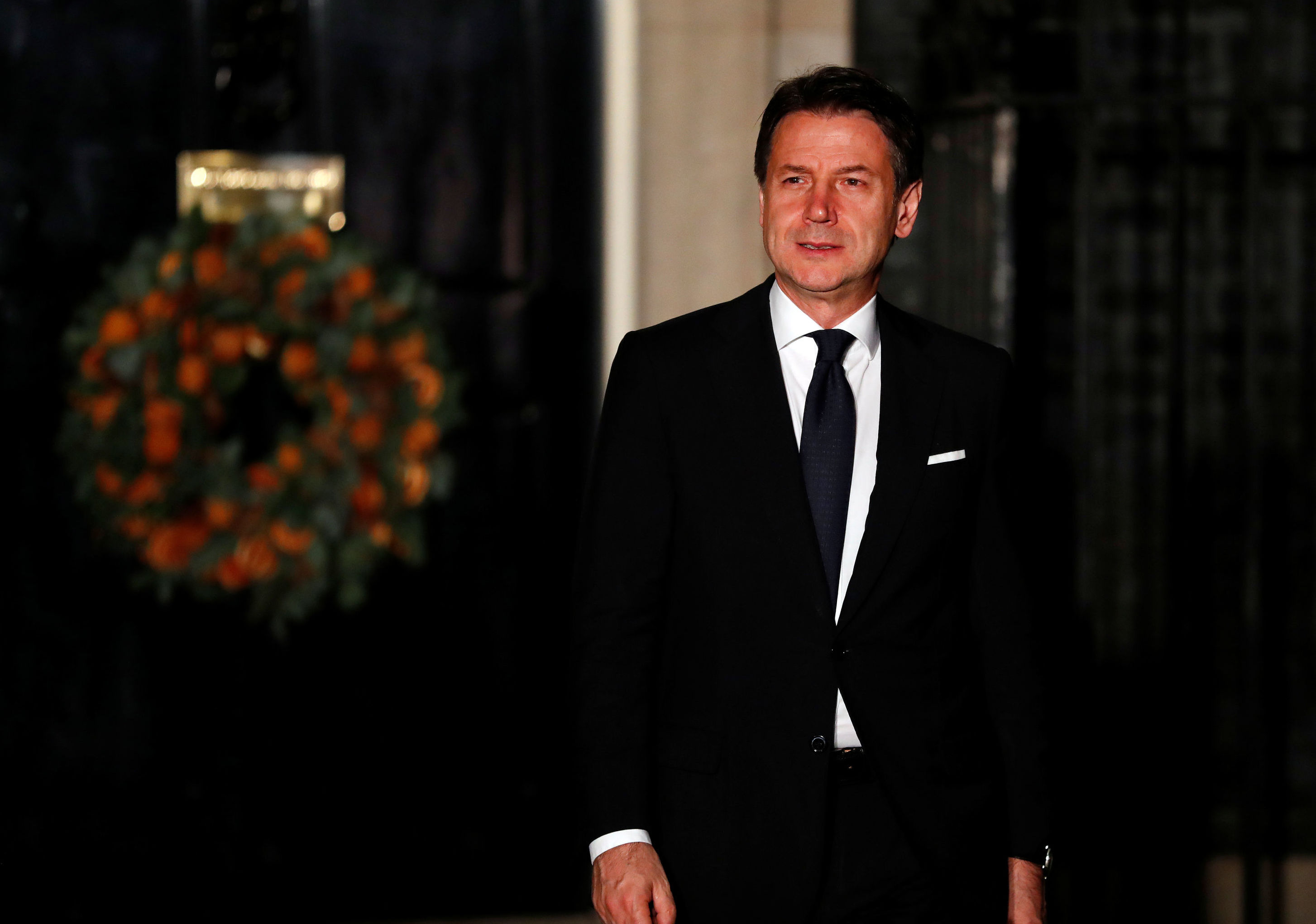 Giuseppe Conte a Downing street
