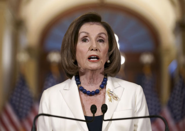 La portavoce della Camera degli Stati Uniti Nancy Pelosi, il 5 dicembre del 2019
