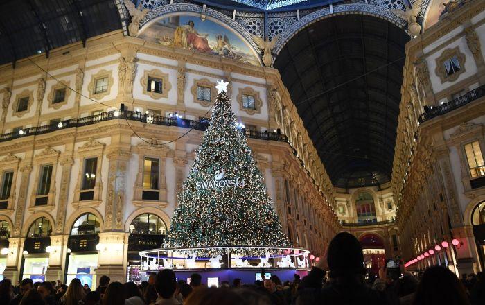 L'albero natale a Milano