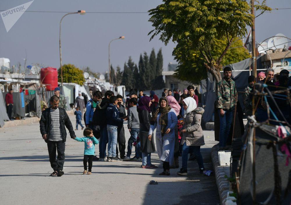 Il campo profughi di Kharzholi vicino a Damasco