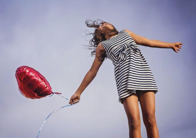 Una ragazza felice