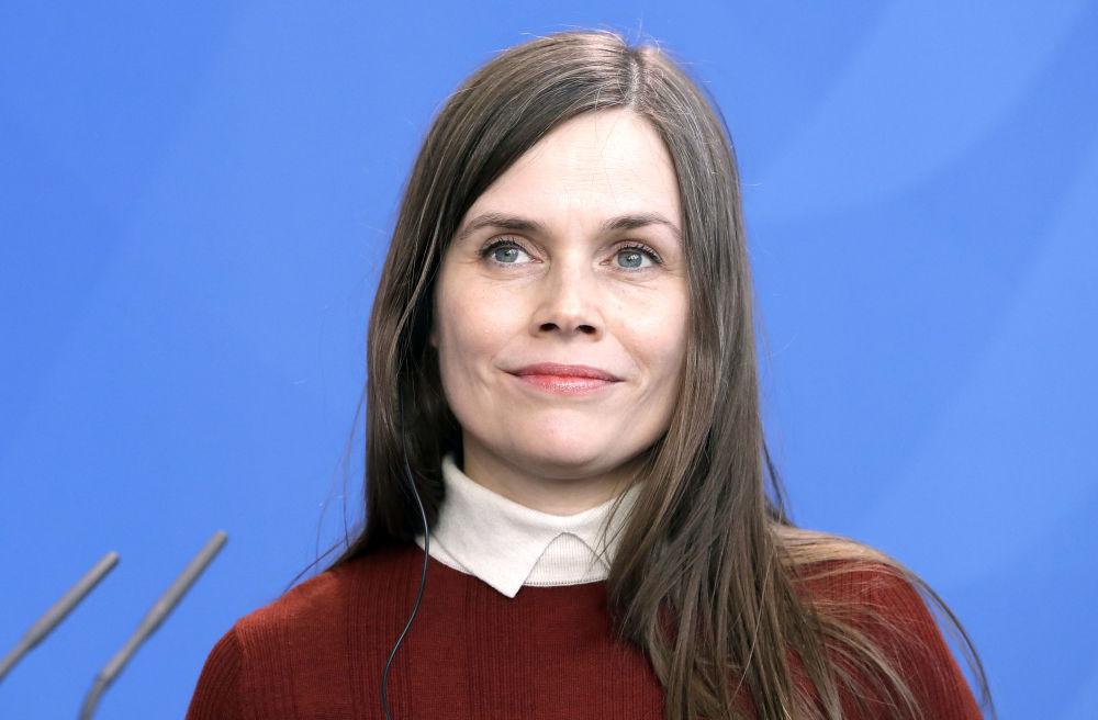La premier islandese Katrin Jakobsdottir è in carica dal 30 novembre 2017