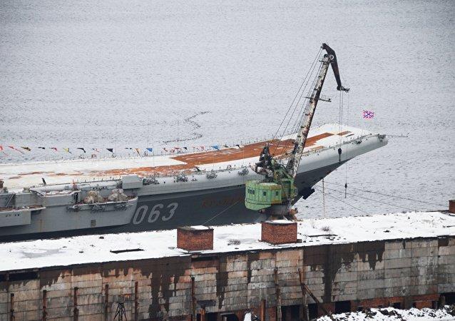 Portaerei Admiral Kuznetsov (foto d'archivio)