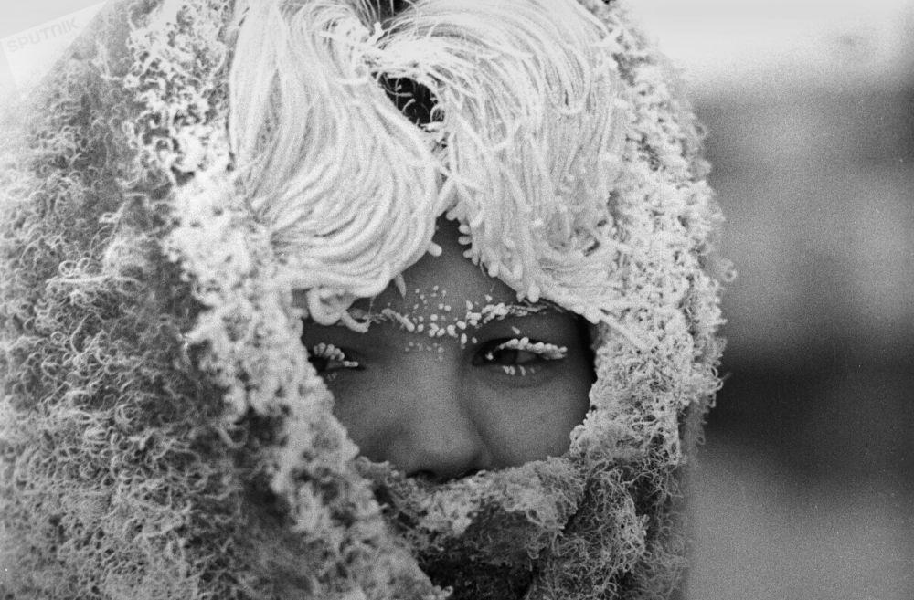 Una ragazza d'inverno a Mosca