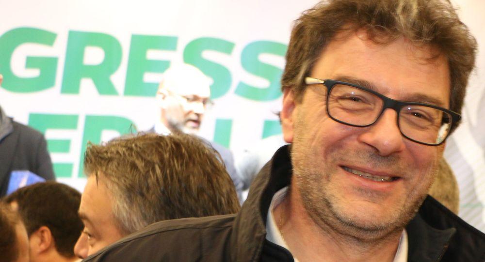 Giancarlo Giorgetti al Congresso Federale della Lega