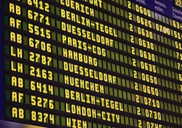 Sciopero trasporto aereo, voli cancellati, aeroporto