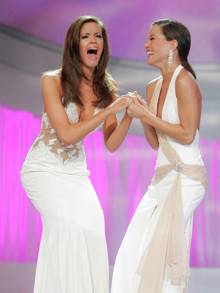 Miss America 2006 Jennifer Berry dopo aver vinto un concorso di bellezza