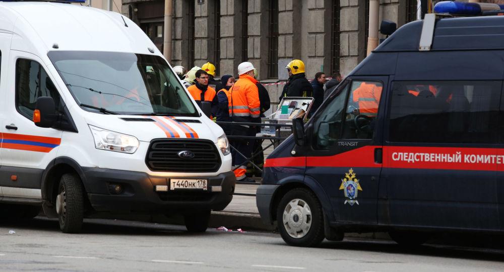 Forze dell'ordine russe e ambulanza