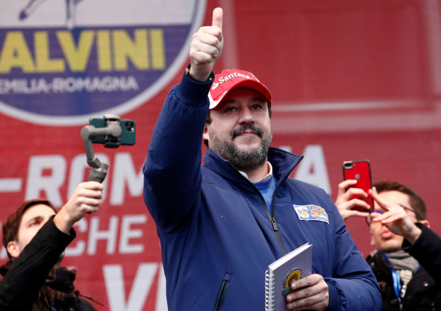 Matteo Salvini a Maranello