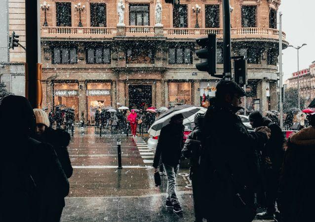 Pioggia a Madrid