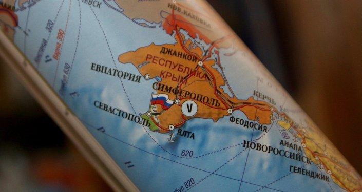 Crimea russa su mappa geografica