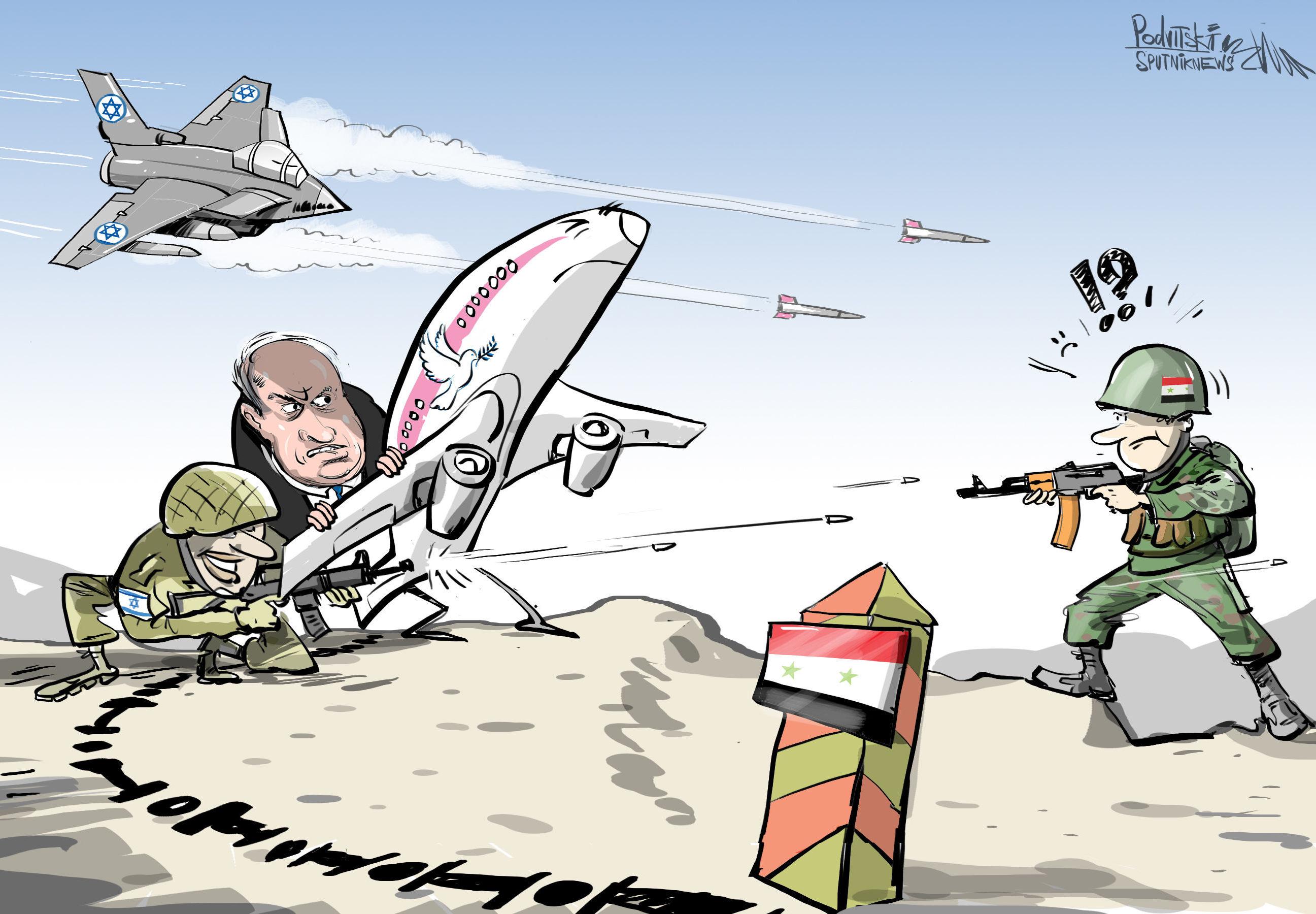 Aereo passeggeri atterra a base aerea russa di Hmeymim a causa di attacchi israeliani in Siria