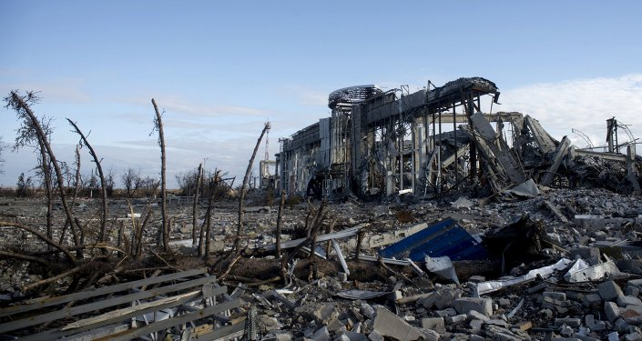 Distruzione a Lugansk