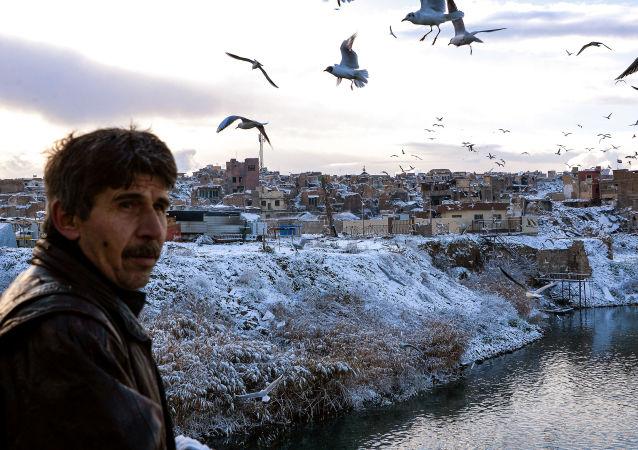 Il fiume Tigri a Mosul, Iraq