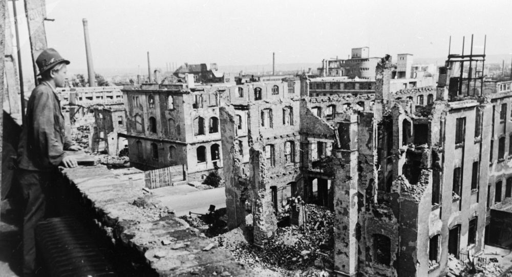 Dresda dopo il bombardamento del 1945