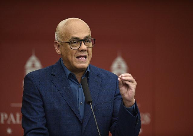 Jorge Rodríguez, ministro della Comunicazione e Informazione del Venezuela