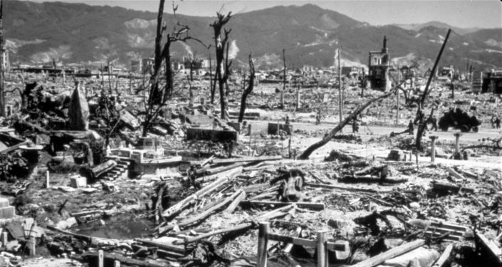 Città di Hiroshima, distrutta dalla bomba atomica americana
