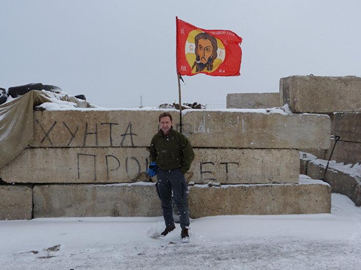 Eliseo Bertolasi a Zorinsk, regione di Lugansk