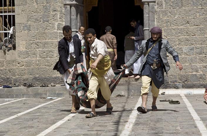 Le vittime dell`attacco terroristico a Yemen