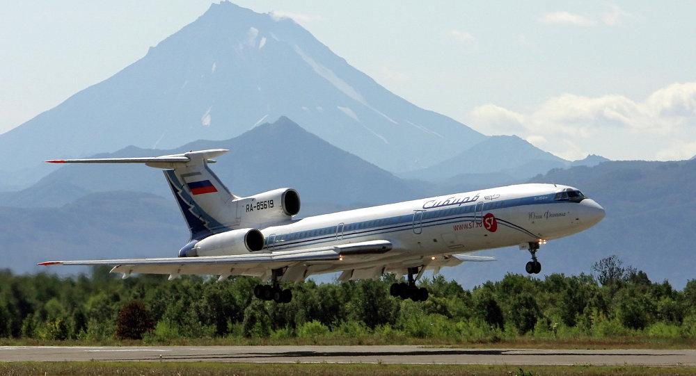 A TU-154 passenger liner in Kamchatka
