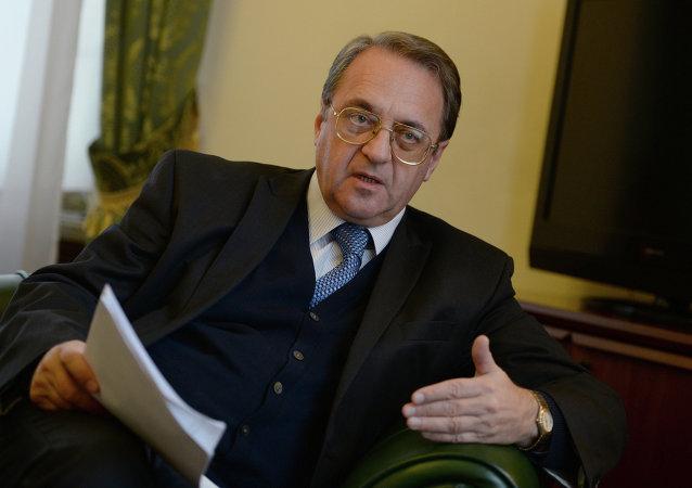 Il Vice-Ministro degli Esteri russo Mikhail Bogdanov