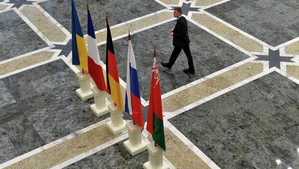 11 febbraio 2015 a Minsk in formato di Normandia si sono incontrati i leaders della Francia, Russia, Germania e Ucraina - Sputnik Italia