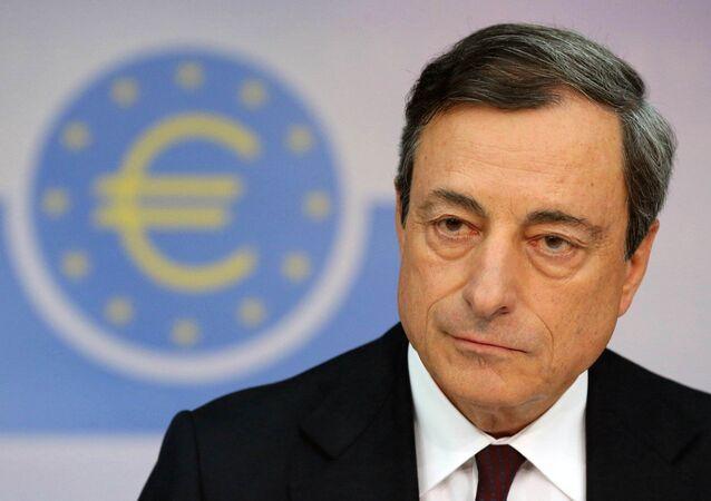 presidente della Banca Centrale Europea  Mario Draghi