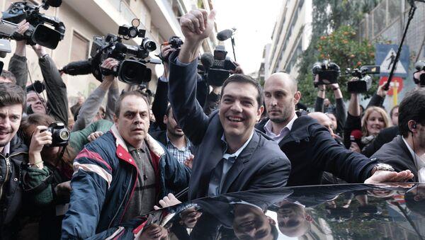 primo ministro greco Alexis Tsipras. gennaio 2015 - Sputnik Italia
