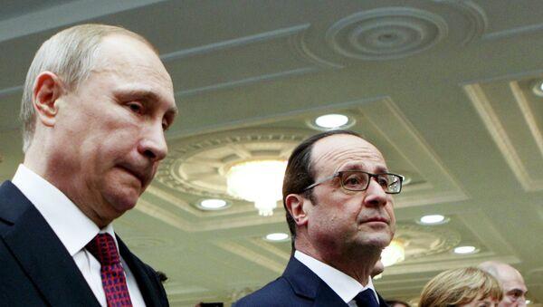 I leaders della Russia, Francia, Ucraina e Germania durante le trattative a Minsk - Sputnik Italia