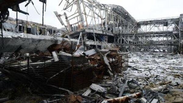 Aeroporto distrutto Donetsk - Sputnik Italia