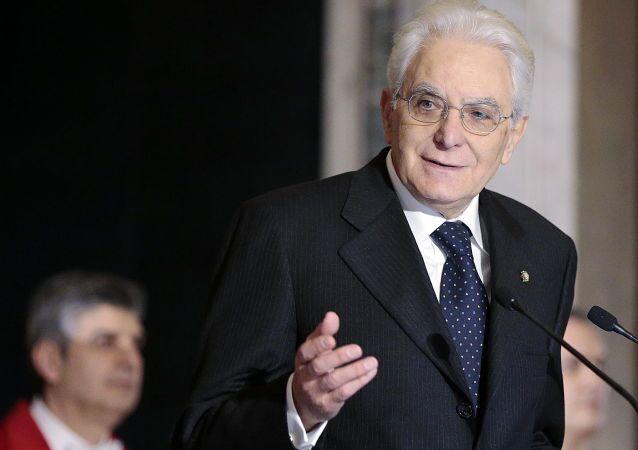 Presidente della Repubblica italiana Sergio Mattarella
