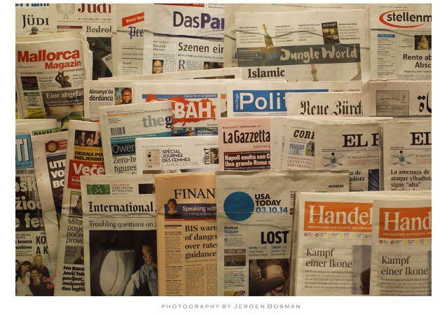 giornali nel chiosco