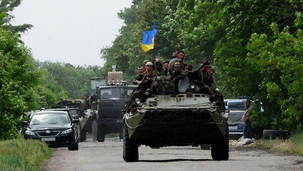 Blindato Guardia Nazionale dell'Ucraina - Sputnik Italia