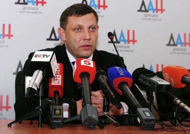 Presidente dell'autoproclamata Repubblica Popolare di Donetsk Alexander Zakharchenko