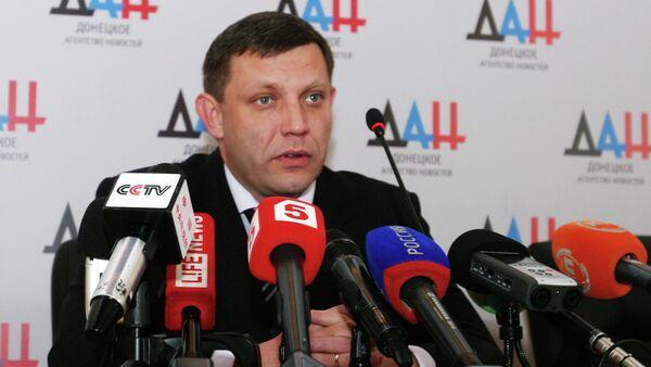 Presidente dell'autoproclamata Repubblica Popolare di Donetsk Alexander Zakharchenko - Sputnik Italia